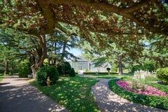 Jardim botânico do ¾ ana de SeÅ, século XIX, Eslovênia fotografia de stock