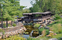 Jardim botânico em Madison, Wisconsin Fotos de Stock Royalty Free