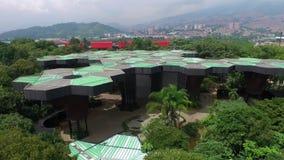 Jardim botânico Medellin do tiro aéreo, Colômbia video estoque