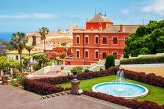 Jardim botânico na cidade de La Orotava, Tenerife imagem de stock royalty free
