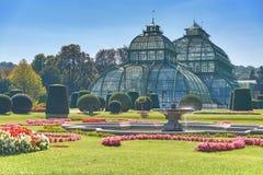 Jardim botânico perto do palácio de Schonbrunn em Viena Fotos de Stock Royalty Free