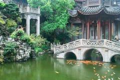 Jardim chinês do estilo tradicional Imagem de Stock