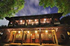 Jardim chinês e noite Imagens de Stock Royalty Free
