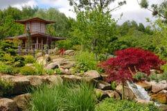 Jardim chinês, japonês. fotografia de stock royalty free
