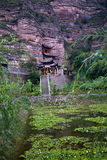 Jardim China do templo budista de Binglin Si Fotos de Stock