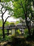 Jardim clássico antigo em Suzhou, China fotografia de stock