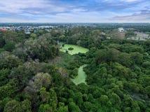 Jardim com o céu Fotos de Stock Royalty Free