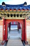 Jardim confidencial no palácio de Changdeok Fotos de Stock Royalty Free