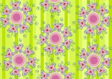 Jardim cor-de-rosa das borboletas do coração ilustração do vetor