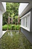 Jardim da água do zen foto de stock