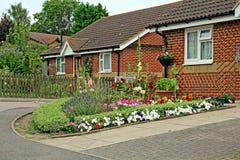 Jardim da casa de campo do país de Kent fotografia de stock
