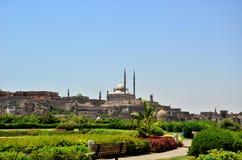 Jardim da citadela do Cairo foto de stock