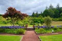 Jardim da comunidade da cidade de Furnas, ilha de Miguel do Sao, Açores, porto Foto de Stock