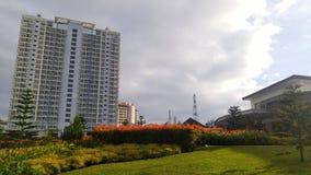 Jardim da construção Fotos de Stock Royalty Free