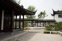 Jardim da expo do jardim do Pequim de China do asiático, construção antiga, corredor Imagens de Stock