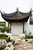 Jardim da expo do jardim do Pequim de China do asiático, construções antigas, o pavilhão, Imagem de Stock Royalty Free