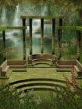 Jardim da fantasia com colunas Imagens de Stock Royalty Free