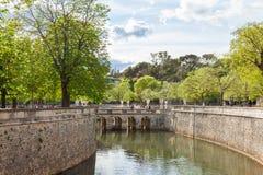 Jardim da fonte em Nimes Imagens de Stock