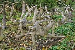 Jardim da ioga no parque da escultura de Parikkala, Finlandia Fotos de Stock Royalty Free
