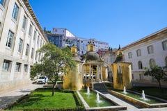 Jardim da Manga i Coimbra, Portugal Arkivbilder