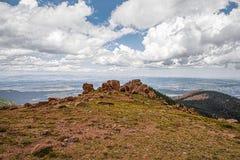 Jardim da montanha rochosa de Colorado dos deuses cênicos Foto de Stock Royalty Free
