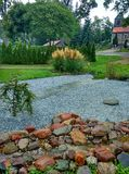 Jardim da vila imagem de stock royalty free