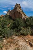 Jardim das montanhas rochosas de Colorado Springs dos deuses fotografia de stock royalty free