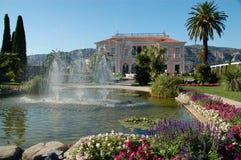 Jardim de Casa de campo Ephrussi de Rotschild fotografia de stock royalty free