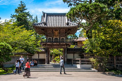 Jardim de chá japonês - San Francisco, EUA fotos de stock
