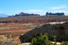 Jardim de Eden Rock Formations, arcos parque nacional, Moab Utá Imagens de Stock Royalty Free