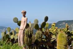 Jardim de Eze, Riviera francês, França foto de stock