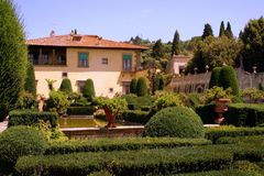 Jardim de Gamberaia em Italy Imagens de Stock Royalty Free