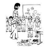 Jardim de infância ilustração royalty free