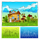 Jardim de infância Fotos de Stock Royalty Free