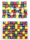 Jardim de infância aleatório do teste padrão do alfabeto Imagens de Stock Royalty Free