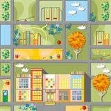 Jardim de infância bonito dos desenhos animados Foto de Stock