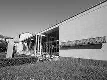 Jardim de infância do St Elia de Asilo em Como em preto e branco Imagem de Stock