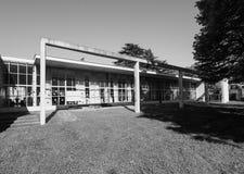 Jardim de infância do St Elia de Asilo em Como em preto e branco Imagens de Stock