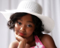 Jardim de infância preto novo da menina Foto de Stock Royalty Free
