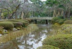 Jardim de Kenrokuen em Kanazawa, Japão fotos de stock