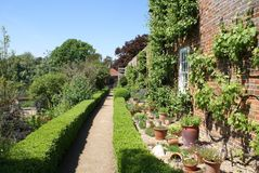 Jardim de Leeds Castle Culpepper em Maidstone, Kent, Inglaterra, Europa Imagem de Stock