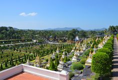 Jardim de Nong Nooch Imagens de Stock Royalty Free