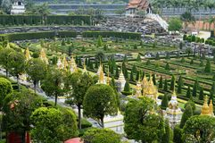 Jardim de Nong Nooch em Pattaya Imagem de Stock Royalty Free