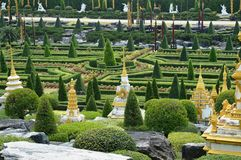 Jardim de Nong Nooch em Pattaya Fotos de Stock Royalty Free