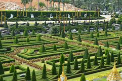 Jardim de Nong Nooch em Pattaya Foto de Stock Royalty Free