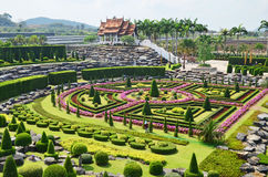 Jardim de Nong Nooch em Pattaya, Tailândia Imagens de Stock Royalty Free
