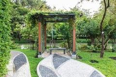 Jardim de pedra do mosaico fotos de stock royalty free