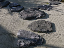 Jardim de pedra japonês Foto de Stock