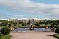 Jardim de Peterhof Fotografia de Stock