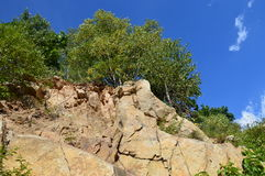 Jardim de rocha azul Imagem de Stock Royalty Free